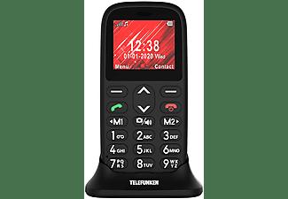 """Móvil - Telefunken S410, 1.77"""", Bluetooth, Para mayores, Teclas grandes, Cámara 0.3MP, Botón SOS, Negro"""
