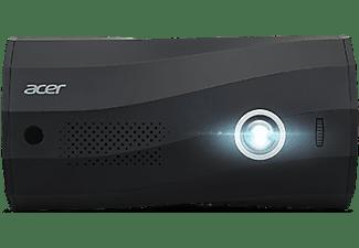 Proyector - Acer C250, WXGA, Bluetooth, 300 lm, 30000h, 5000:1, LED, DLP, Negro