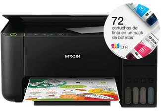 Impresora multifunción - Epson ECOTANK ET-2714, 33 ppm, 5760 x 1440 DPI, Wi-Fi, Negro