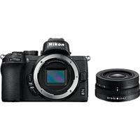 NIKON Z 50 Systemkamera mit Objektiv Z DX 16-50mm f3.5-6.3 VR Schwarz