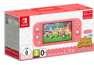 NINTENDO Switch Lite + Animal Crossing - Roze