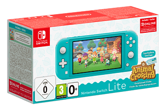 NINTENDO Switch Lite + Animal Crossing (Downloadcode) - Turquoise