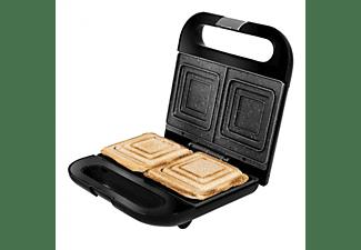 Sandwichera - Cecotec Rock´nToast Sandwich Squared, Potencia 750 W, 2 Sandwiches, RockStone, Negro