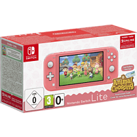 NINTENDO Switch Lite Koralle inkl. Animal Crossing und 3 Monate Switch Online Mitgliedschaft