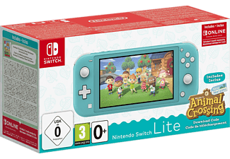 NINTENDO Switch Lite Türkis inkl. Animal Crossing und 3 Monate Switch Online Mitgliedschaft
