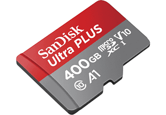 SANDISK Ultra PLUS, Micro-SDXC Speicherkarte, 400 GB, 130 MB/s