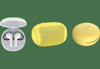 LG HBS-FN4.APL2S, In-ear Kopfhörer Bluetooth Weiß/Sour Lemon