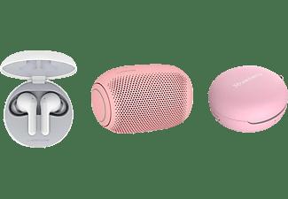 LG HBS-FN4.APL2P, In-ear Kopfhörer Bluetooth Weiß/Bubble Gum