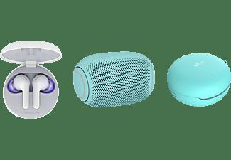LG HBS-FN6.APL2B, In-ear Kopfhörer Bluetooth Weiß/Ice Mint
