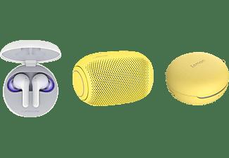 LG HBS-FN6.APL2S, In-ear Kopfhörer Bluetooth Weiß/Sour Lemon