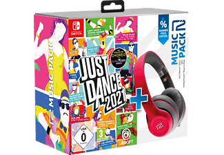 READY 2 GAMING NSW Just Dance 2021 & ready2music Rival, Over-ear Kopfhörer Bluetooth Pink