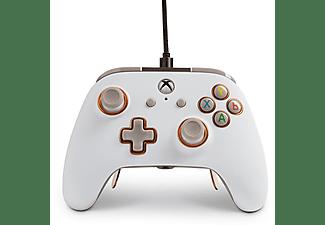 Mando - Power A Fusion, Para Xbox One, Xbox Series y Windows 10, Palancas traseras, Con cable, Blanco