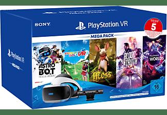 SONY PS VR Mega Pack 3 inkl. PS VR-Headset / PS Camera / PS Camera-Adapter / 5 Spiele (Gutscheincode) Zubehörset