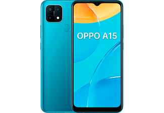"Móvil - OPPO A15, Azul, 32GB, 3GB, 6.5"" HD+, MediaTek Helio P35, 4230 mAh, Android"