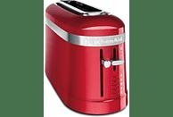 Tostadora - Kitchen Aid 5KMT3115EER, 900W, 1 ranura, 4 niveles, Descongelación, Calientabollos, Rojo