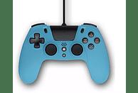 Mando - Gioteck VX4, Para PS4 o PC, Con cable, Ergonómico, Azul