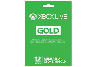 Tarjeta - Xbox Live Gold 12 Meses (Formato Físico)
