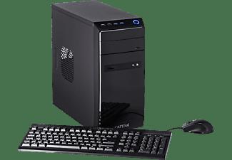 CAPTIVA B5A 20V1, Desktop PC mit Ryzen 5 Prozessor, 16 GB RAM, 480 GB SSD, 1 TB HDD, Radeon Vega 11