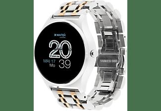 X-WATCH X-WATCH JOLI XW PRO-SHINY SILVER-54059  Smartwatch Metall, 265 mm, Silber/Gold