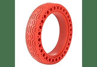 """Rueda sólida - Youin MA1001 Honeycomb, Para Youin L, Xiaomi M365, 1s, Pro y Pro2, Antipinchazos, 8.5"""", Rojo"""