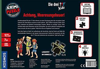 KOSMOS Krimi-Puzzle: Die drei ??? Kids - Achtung, Meeresungeheuer! Gesellschaftsspiel Mehrfarbig