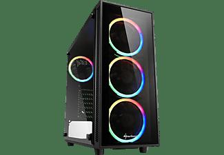 SHARKOON TG4 RGB PC-Gehäuse, Schwarz