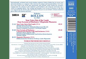 Petri/Moser/Poppen/Deutsche Radio Philharmonie/+ - Your Voice Out Of The Lamb  - (CD)