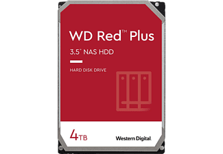 WD Red™ Plus NAS-Festplatte 4 TB, BULK, 4 TB, HDD, 3,5 Zoll, intern