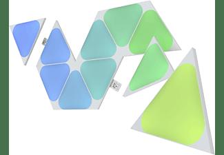 NANOLEAF Shapes Triangles Mini Expansion Pack - 10 Panels  Vernetzte Innenbeleuchtung Erweiterung Multicolor/Warmweiß/Tageslichtweiß