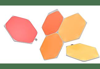 NANOLEAF Shapes Hexagons Starter Kit 5 PK Vernetzte Innenbeleuchtung Über 16 Millionen Farben und Weißlicht
