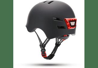 Casco - Youin LED, Para patinete eléctrico o bicicleta, Luz trasera, Negro