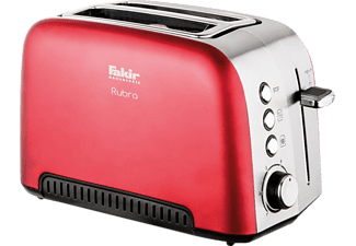FAKIR 9225001 Rubra Rouge Toaster Rot (980 Watt, Schlitze: 2)