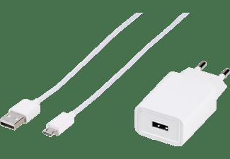 VIVANCO Ladegerät mit Adaptive Charge, 15W, inkl. 1,0m USB-Type-C-Kabel, für Samsung, weiß