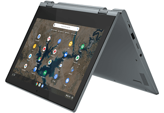 LENOVO IdeaPad Flex 3i, Chromebook mit 11,6 Zoll Display Touchscreen, Intel® Celeron® Prozessor, 4 GB RAM, 64 GB eMMC, Intel UHD Grafik 600, Dunkelblau