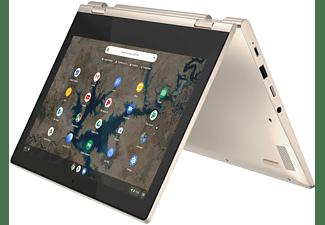 LENOVO IdeaPad Flex 3i, Plus Chromebook mit 11,6 Zoll Display Touchscreen, Intel® Celeron® Prozessor, 8 GB RAM, 128 GB eMMC, Intel UHD Grafik 600, Mandelsilber