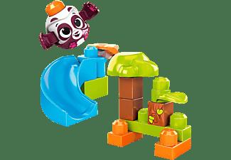 MEGA BLOKS Guck-Guck Panda-Rutsche Regenwald Spielset (14 Teile) Spielset, Mehrfarbig