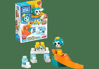 MEGA BLOKS Guck-Guck Pinguin-Rutsche Südpol Spielset (14 Teile) Spielset, Mehrfarbig
