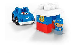 MEGA BLOKS Kleines Fahrzeug Polizeiauto Spielset, Mehrfarbig