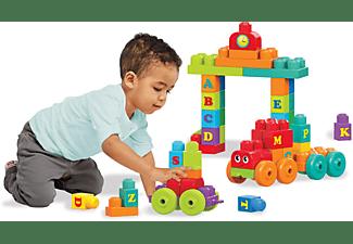 MEGA BLOKS ABC Lernzug (60 Teile) Spielset, Mehrfarbig