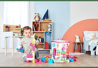 MEGA BLOKS Bausteine-Beutel pink (60 Teile), Steck-Bausteine Kinder, Bauklötze Spielset, Mehrfarbig