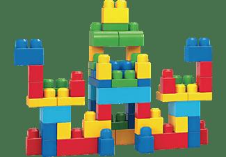 MEGA BLOKS Bausteine-Beutel bunt (60 Teile), Steck-Bausteine Kinder, Bauklötze Spielset, Mehrfarbig