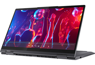 LENOVO Yoga 7i EVO, Convertible mit 14 Zoll Display, Core™ i5 Prozessor, 8 GB RAM, 512 GB SSD, Intel Iris Xe Grafik, Schiefergrau