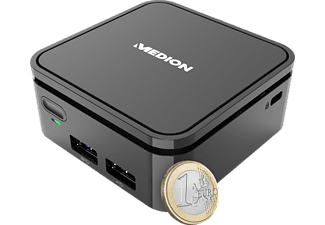 MEDION AKOYA S22002 - Mini PC (Intel® Celeron®, 64 GB eMMC, Noir)
