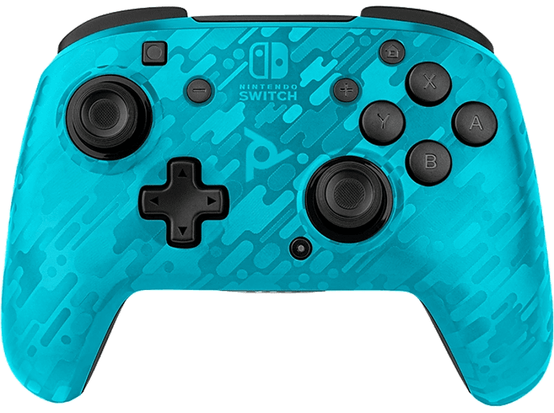 PDP Draadloze Nintendo Switch Controller Faceoff Deluxe+ Audio Blauw (500-134-NA-CM02)