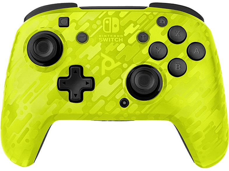 PDP Draadloze Nintendo Switch Controller Faceoff Deluxe+ Audio Geel (500-202-NA-CMYL)