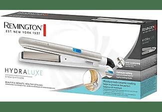 Plancha de pelo - Remington Hydraluxe S8901, 9 niveles, Hydracare, Acondicionamiento iónico, Blanco