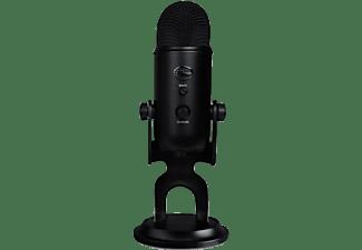 Micrófono - Blue Yeti Blackout, USB, Para PC, Mac y PS4, 120 dB, Negro