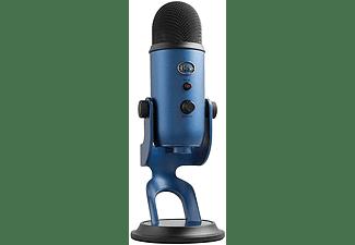 Micrófono - Blue Yeti Midnight Blue, USB, Para PC, Mac y PS4, 120 dB, Azul