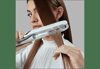 Plancha de pelo - Remington S9001 Hydraluxe PRO Straightener, 170°C, Revestimiento de cerámica, Blanco
