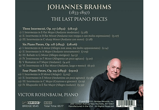 Victor Rosenbaum - The Last Piano Pieces  - (CD)